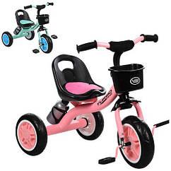 Велосипед детский трехколесный Turbo Trike M 3197-M-1 розовый и мятный**