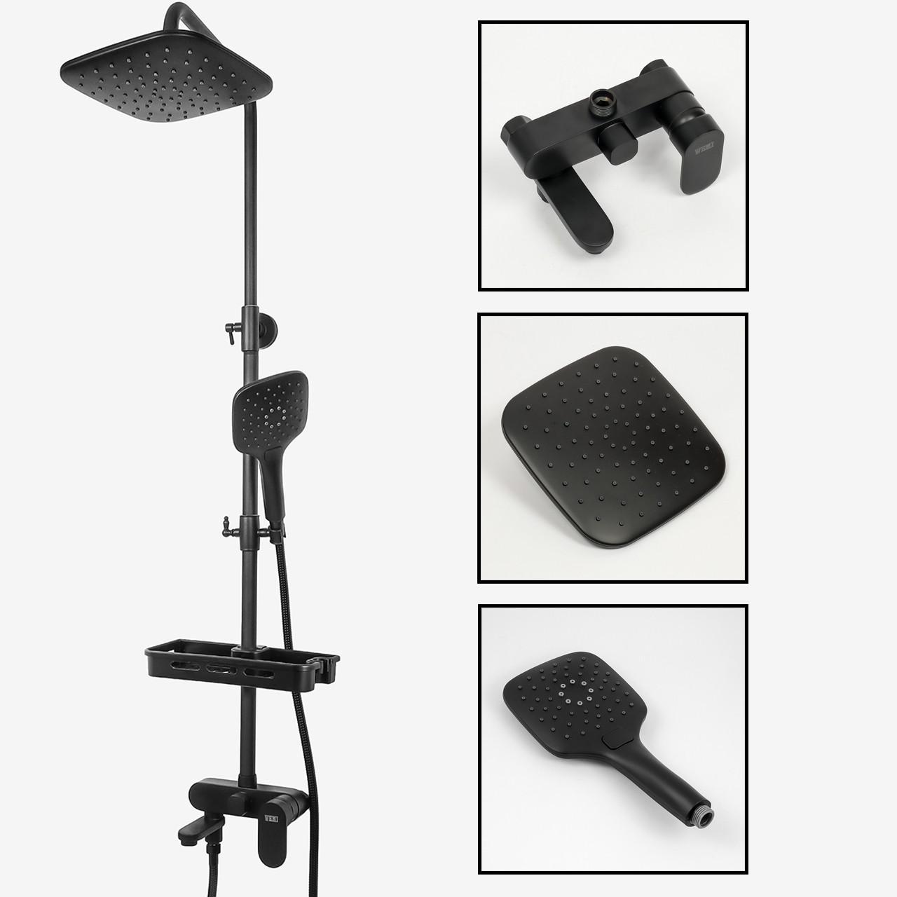Душевая система WEMI SB-10 чёрного цвета