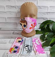 Защитная маска для девочек многоразовая  хлопок