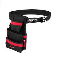 ✅ Пояс для инструмента, 3 кармана INTERTOOL SP-1014, фото 1