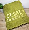 Полотенце в сауну SPORT Оливковый цвет, фото 3