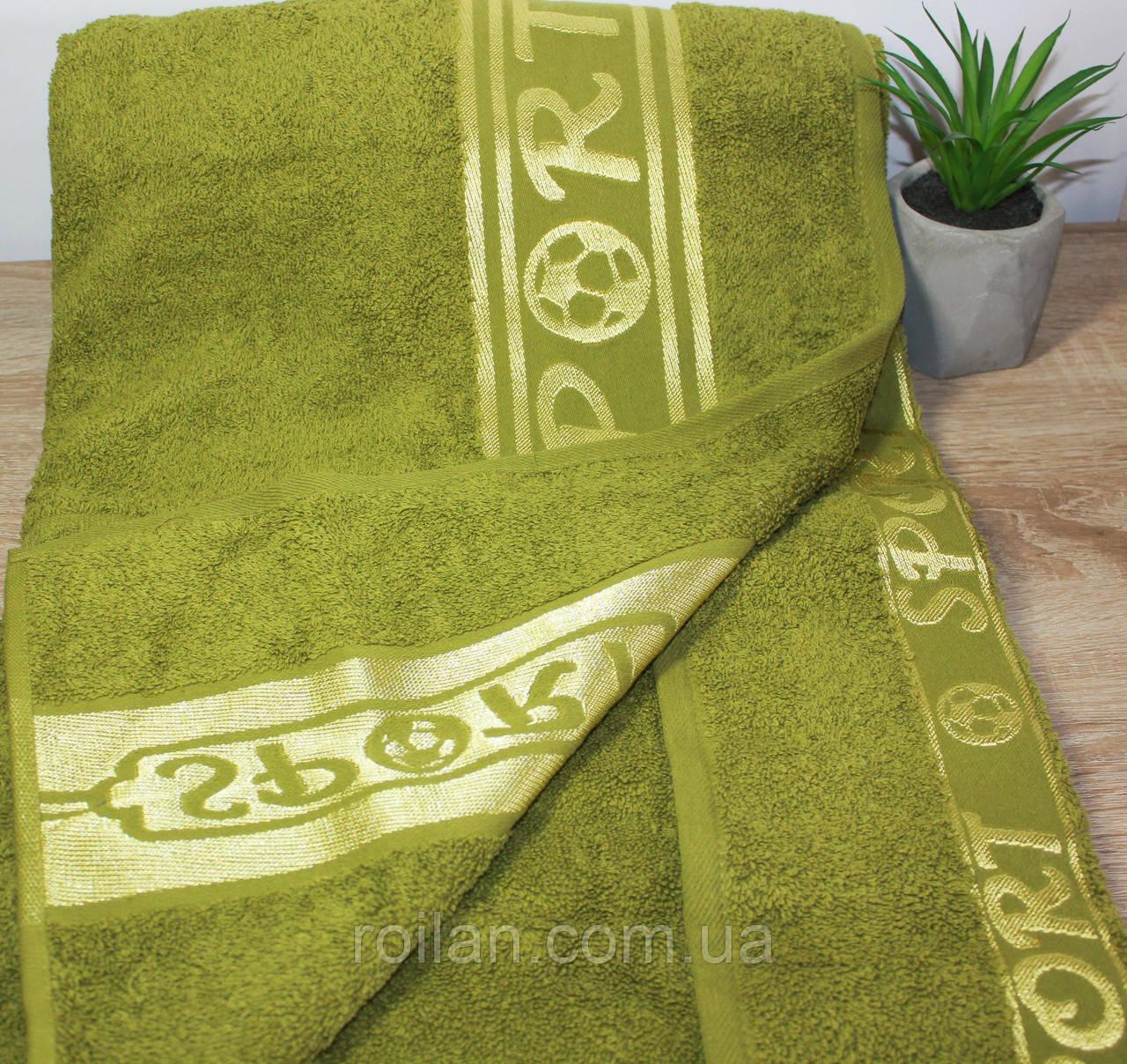 Полотенце в сауну SPORT Оливковый цвет