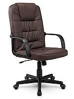 Кресло стул офисный кожаный Sofotel EG-236 коричневый, фото 1