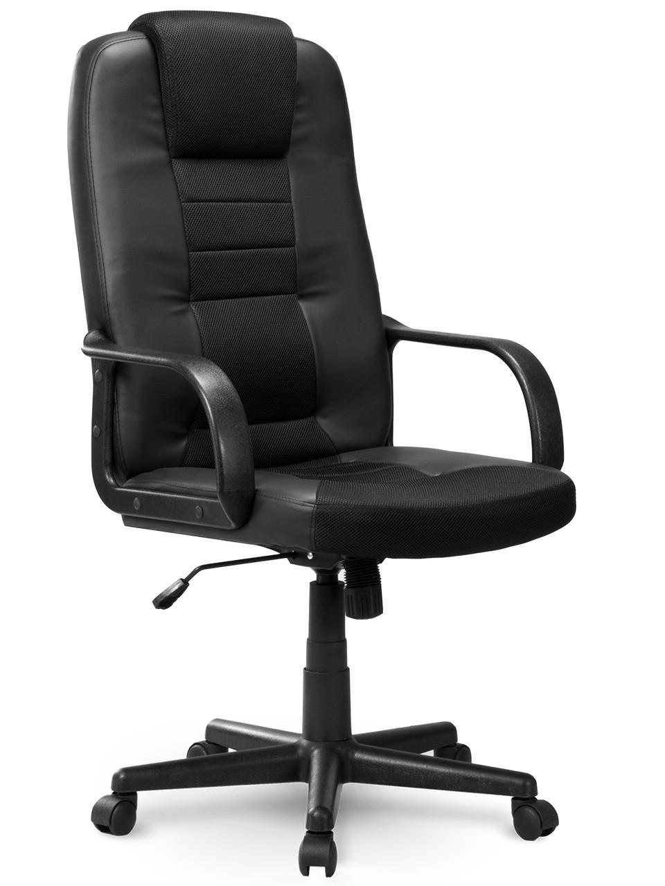 Кожаное кресло с mikrosiatka Sofotel 518B черный