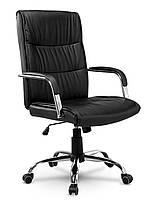 Кресло стул офисный кожаный Sofotel EG-237 черный, фото 1