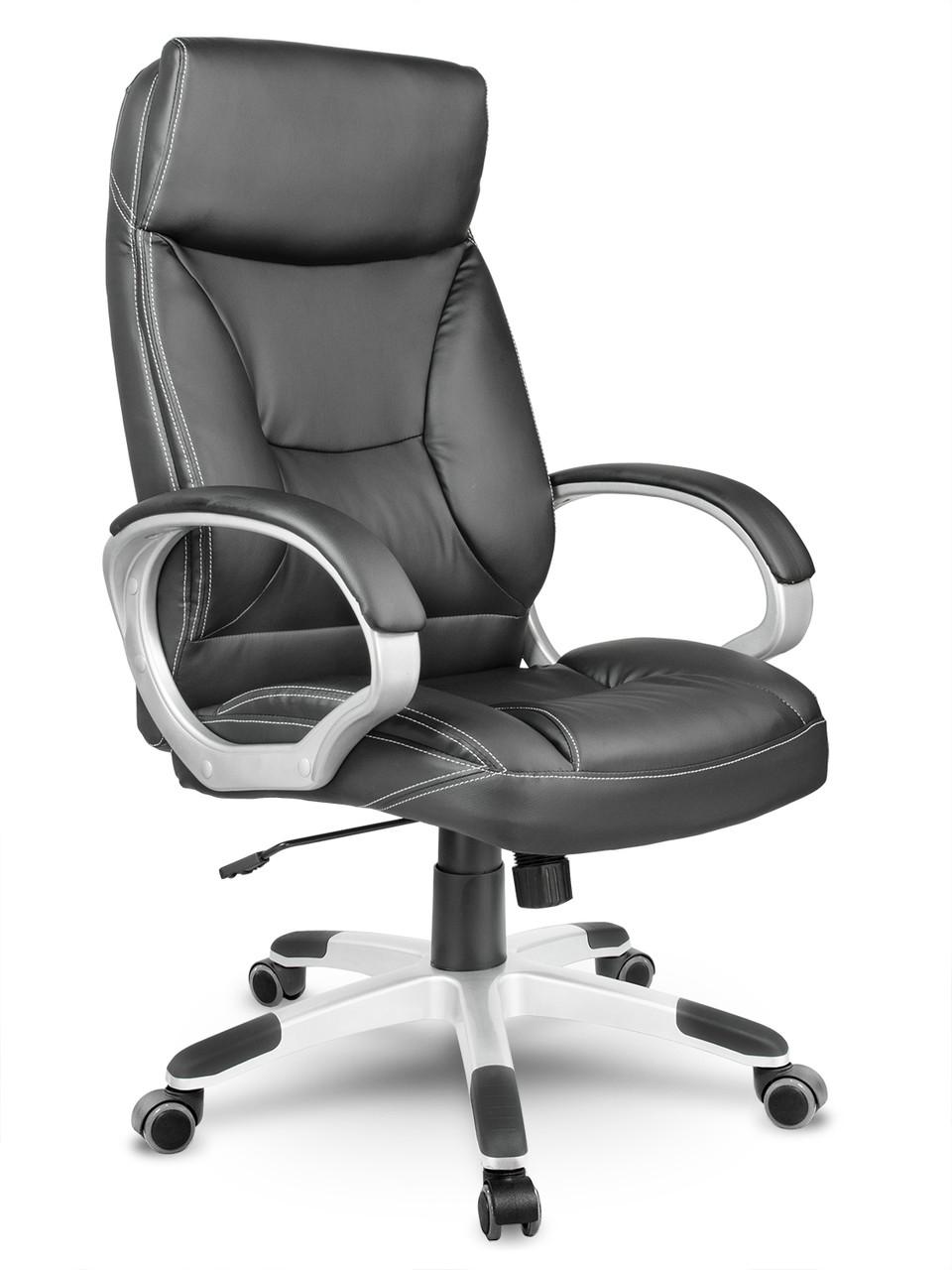 Кресло стул офисный кожаный Sofotel EG-223 черный