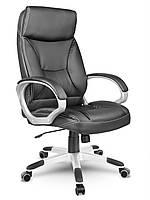 Кресло стул офисный кожаный Sofotel EG-223 черный, фото 1