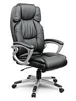 Кресло стул офисный кожаный Sofotel EG-227 черный