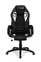 Геймерское компьютерное кресло FLAME PLUS белый, фото 1