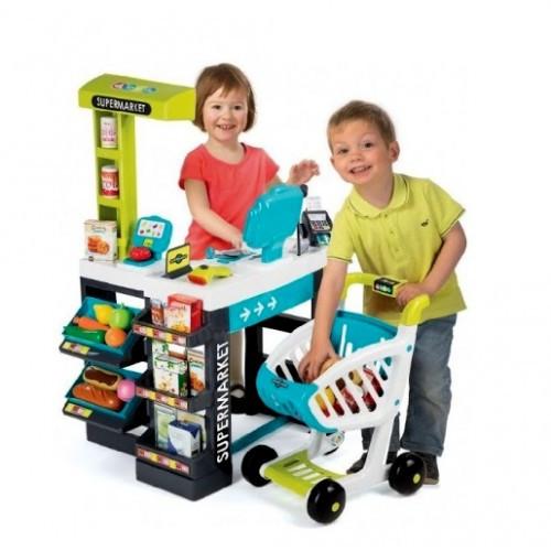 Интерактивный супермаркет с тележкой 350206