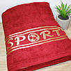 Полотенце в сауну SPORT Бордовый цвет, фото 3