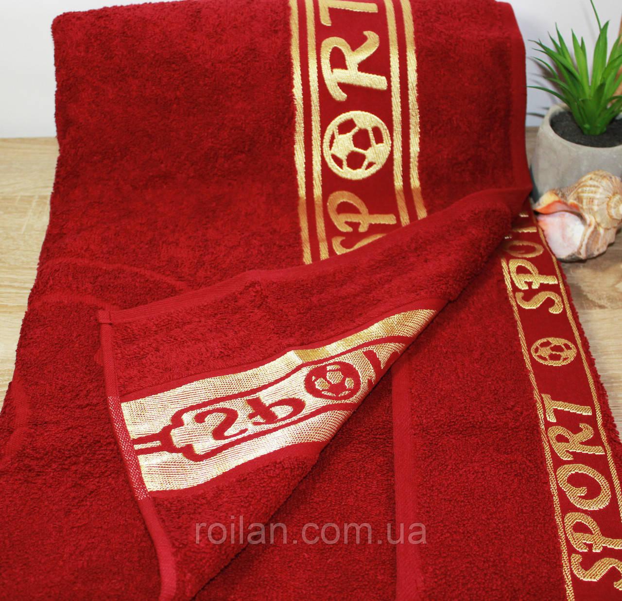 Полотенце в сауну SPORT Бордовый цвет