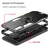 KEYSION Противоударный защитный чехол Xiaomi Redmi 9A с кольцом Цвет Чёрный, фото 4