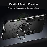 KEYSION Противоударный защитный чехол Xiaomi Redmi 9A с кольцом Цвет Чёрный, фото 2