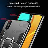 KEYSION Противоударный защитный чехол Xiaomi Redmi 9A с кольцом Цвет Чёрный, фото 3