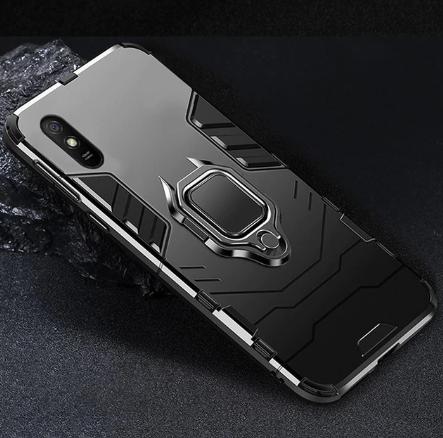 KEYSION Противоударный защитный чехол Xiaomi Redmi 9A с кольцом Цвет Чёрный
