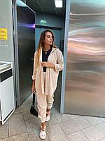 """Женский вельветовый костюм """"Британия"""" брюки бананы и рубашка (светлый беж , серый, чёрный, кэмел, С и М), фото 1"""
