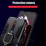 KEYSION Противоударный защитный чехол Xiaomi Redmi 9 с кольцом Цвет Чёрный, фото 4