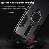 KEYSION Противоударный защитный чехол Xiaomi Redmi 9 с кольцом Цвет Чёрный, фото 6