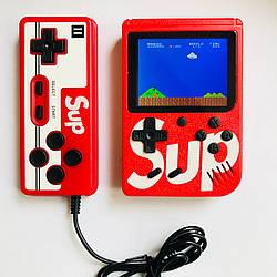 Портативная игровая приставка с джойстиком 8 бит Денди Retro Game Box SUP 400 in 1 красная
