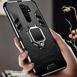 KEYSION Противоударный защитный чехол Xiaomi Redmi 9 с кольцом Цвет Чёрный, фото 2
