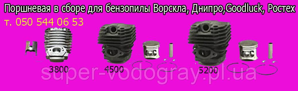 Поршневая для бензопилы Ворскла,Днипро-М,Goodluck, Ростех