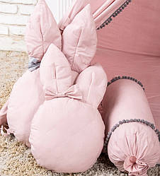 """Подушка - іграшка """"Зайка рожевий великий"""