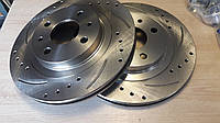 Тормозные диски SPORT для ВАЗ-2110-2112 Kalina Priora Granta on-DO mi-DO (R14) с перфорацией