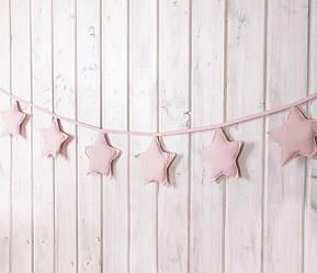 Гирлянда из звёздочек 7 шт. «Розовые облака»