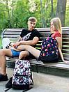 Рюкзак унисекс темно-синий с ярким принтом Likee, фото 4