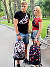 Рюкзак унисекс темно-синий с ярким принтом Likee, фото 7