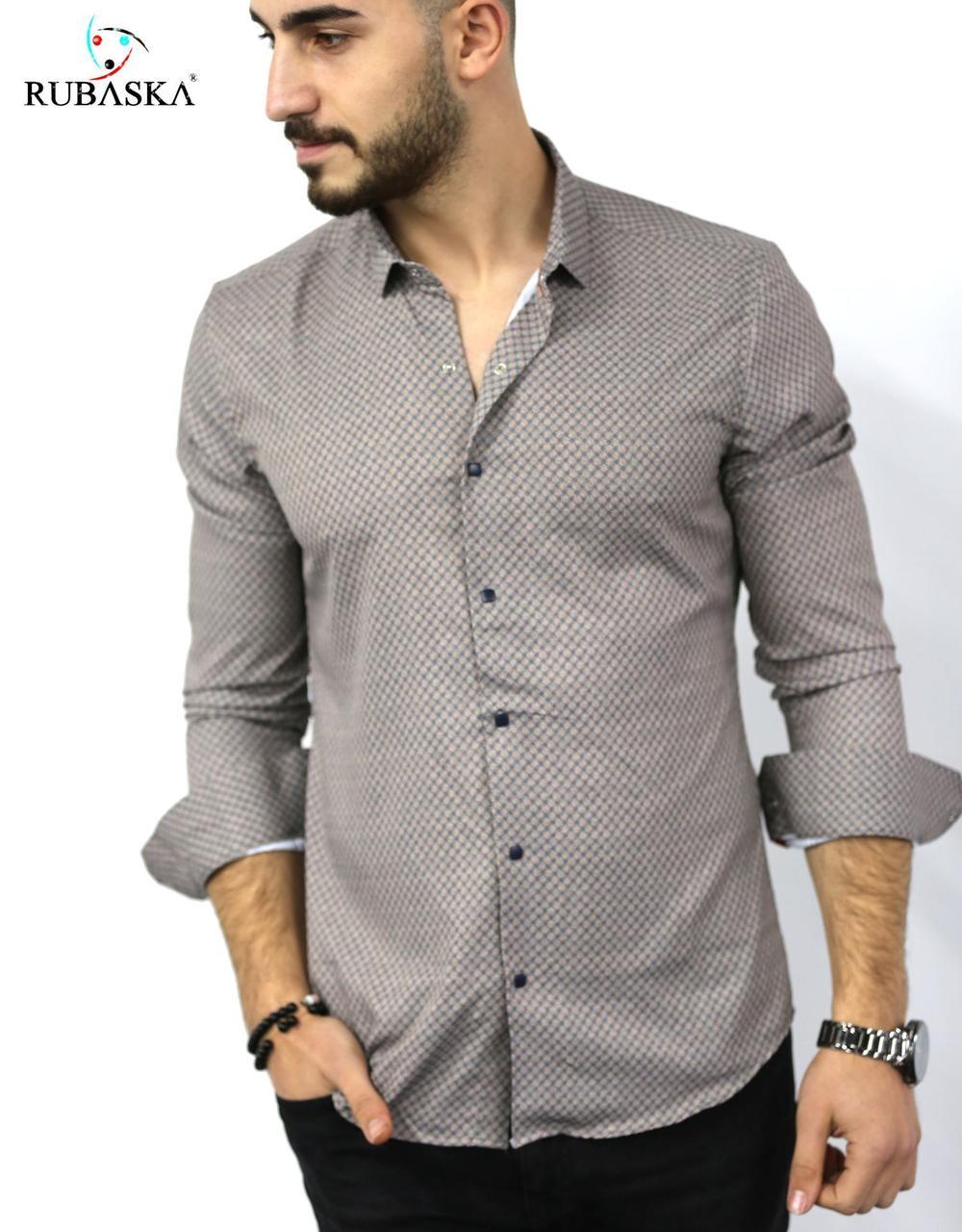 Мужская рубашка с длинным рукавом Rubaska Турция