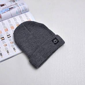 Крута шапка зі смайликом модна в'язана шапка smile
