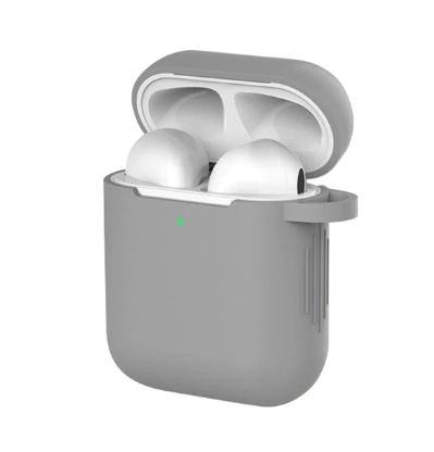 Чехол для наушников Apple Airpods и TWS i10 i12 i13 Silicone Case Цвет Серый
