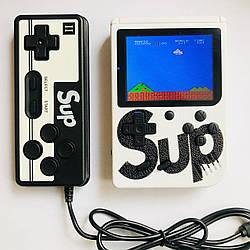 Портативная игровая приставка с джойстиком 8 бит Денди Retro Game Box SUP 400 in 1 белая