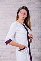 Женский медицинский халат 104 (Фиолетовый) 44 размер