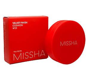 Тональний кушон з матовим фінішем Missha Velvet Finish Cushion SPF50 + / PA +++