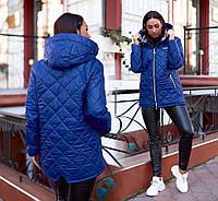 """Демисезонная женская куртка в батальных размерах 231 """"Парка Стёганка Плащёвка"""" в расцветках"""