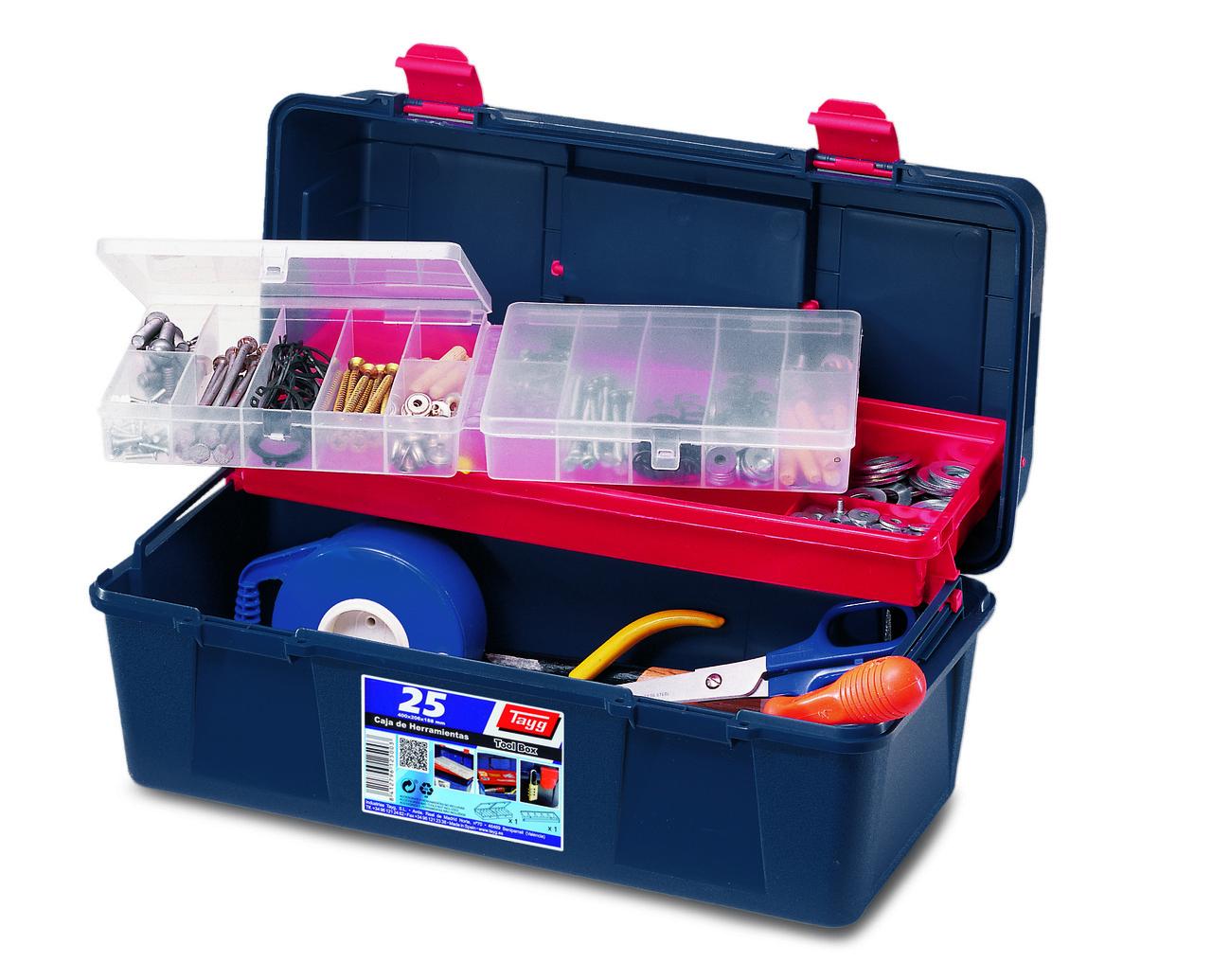 Ящик Tayg Box 25 Caja htas 40x20,6x18,8 см для інструментів + вкладка + органайзер пластиковий синій