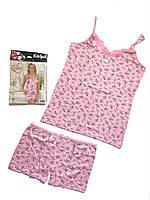 Женская пижама с шортами ХХЛ Хлопок Турция 08