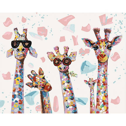 Картина по номерам - Веселые жирафы Идейка 40*50 см. (КНО4115), фото 2