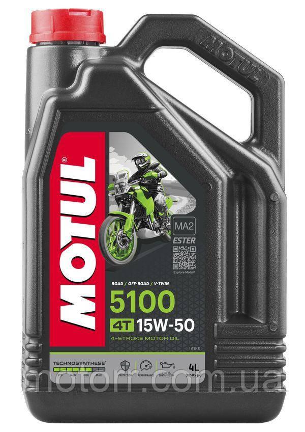Масло моторное для мотоциклов Motul 5100 4T SAE 15W50 (4L)