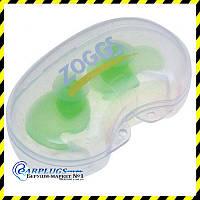 Беруши для плавания Zoggs Aqua-Plugz Junior, зеленые.