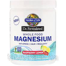 Garden of Life, Dr. Formulated, порошок магния из цельных продуктов, малина и лимон, 421,5 г