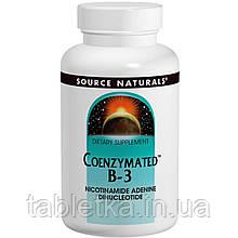 Source Naturals, Коферментная форма витамина B3, сублингвальная форма, 25 мг, 60 таблеток
