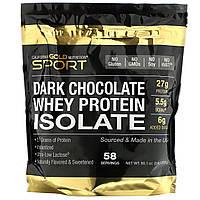 California Gold Nutrition, Изолят сывороточного протеина со вкусом черного шоколада, 2270 г (5 фунтов)