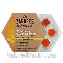 Zarbee's, 99% мёд, смягчение кашля, натуральный лимонный вкус, 14 штук