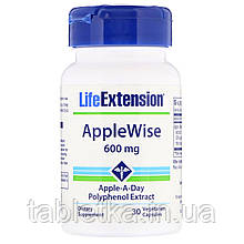 Life Extension, AppleWise, добавка из яблока, 600 мг, 30 вегетарианских капсул