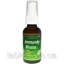 California Natural, Спрей для повышения иммунитета, 1 унция (30 мл)