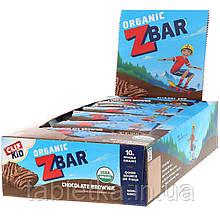 Clif Bar, Clif Kid, Z Bar, органічні батончики зі смаком шоколадного брауні, 18 батончиків, 36 г (1,27 унції)